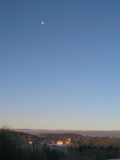 Sunday Morning Moonset