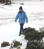 Carol in Snow 1
