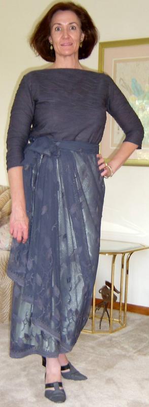 Gray Lace Skirt