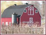 Barn and silo.
