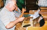 Finishing cigars at the Corona factory