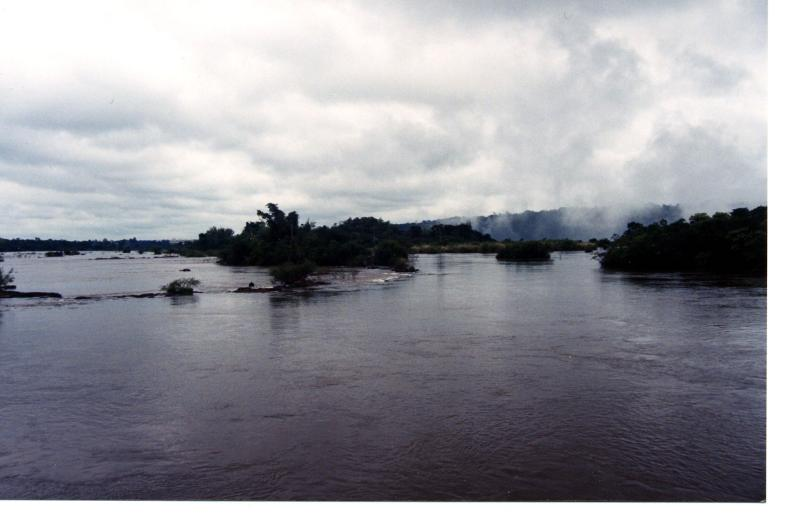 Iguazu River - almost to the falls