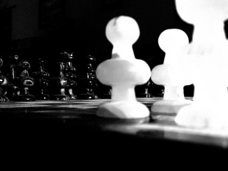 1-14-04 Black and White Ready for Battle