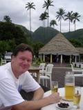 Peter enjoying a beer