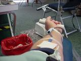 my arm during donation