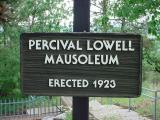 Percival LowellMausoleumErected 1923