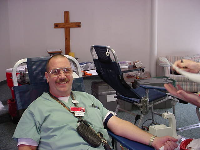 Jeffrey Lewis in 2002<br> in chair before donation