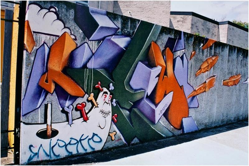 Street art - Lower Hutt (Laings Rd)