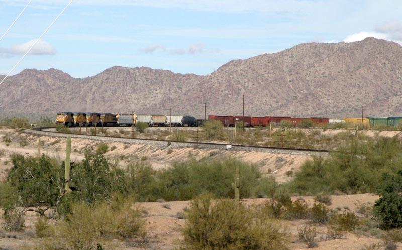 Train near Gila Bend