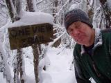 Ron and Infamous One View Trail Sign