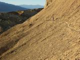 Along a steep trail