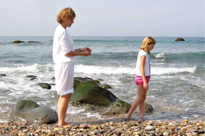 At Connies beach
