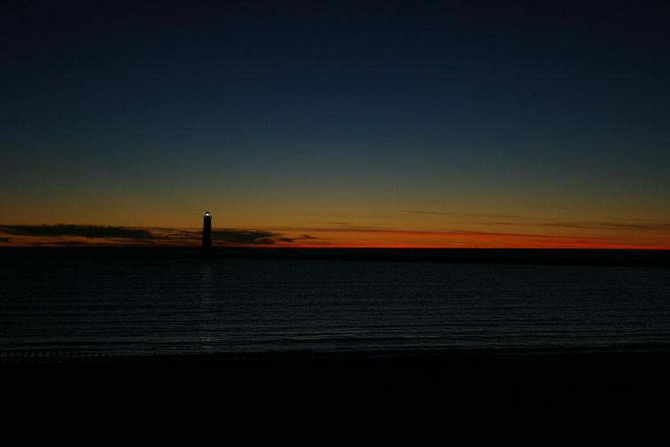 Oct. 10, 2004 - Lake Michigan sunset