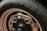 Dunlops on Porcshe 356 rims