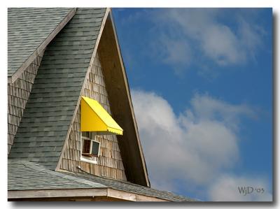 Beach House Roof, Blue Sky
