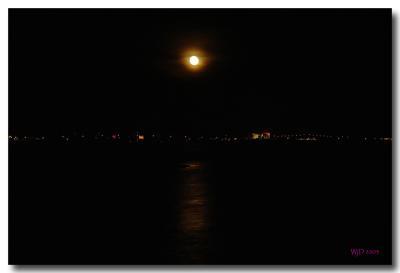 Atlantic City, at night, from afar ...