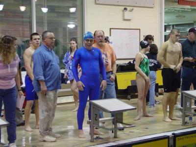 Stefan in swim gear, Anders on left