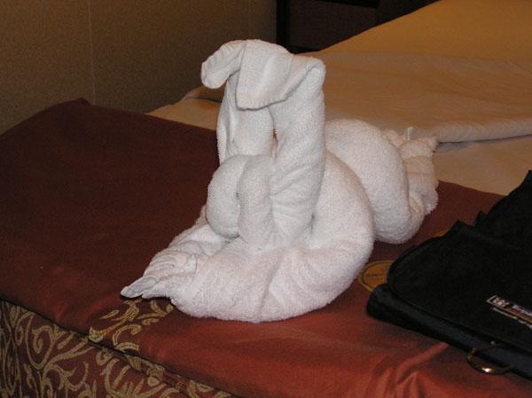 Rabbit towel animal