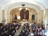 Mass at Church of Santa Cruz draws a good crowd on a Wednesday afternoon