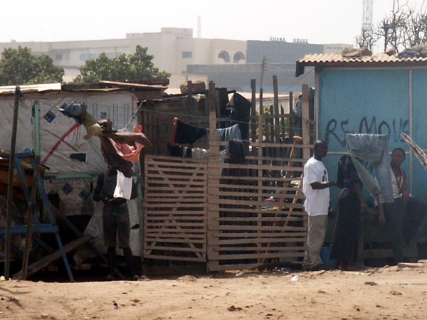 Informal settlement, Accra, perhaps to be removed by the government