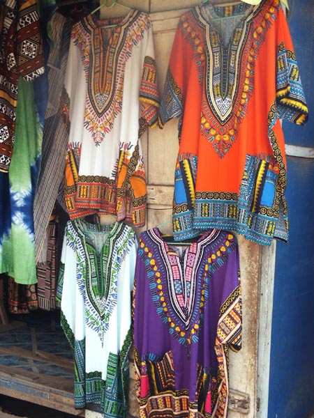 Colorful West African shirts