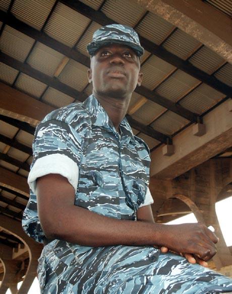 Presidential guard Benjamin Arthur