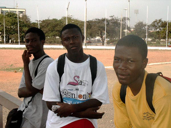 3 guys at Independence Square, Accra