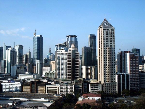 Highrises of Makati City, south of Manila