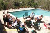 Enjoying the pool at Pelican Eyes