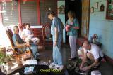 Delegation at Doña Nena's hospedaje
