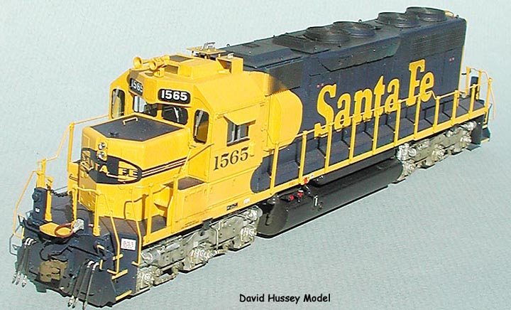 Santa Fe SD39 Mostly scratch built