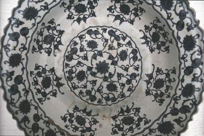 Plate in blue and white