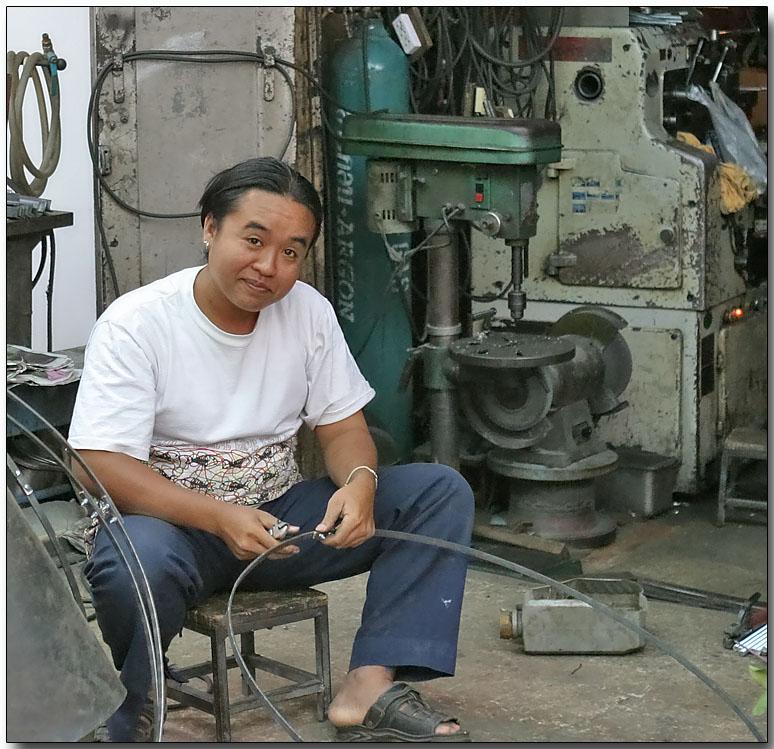 Small metal shop in a Bangkok alley