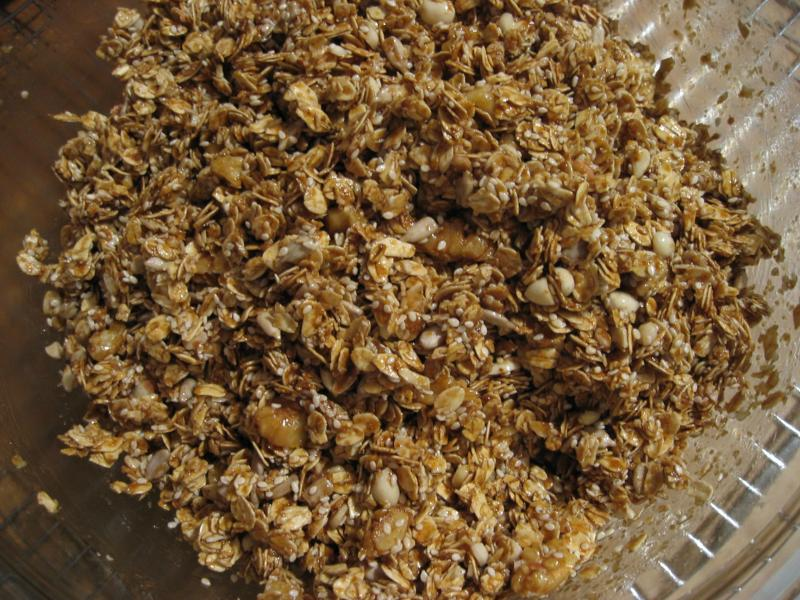Combine syrup with dry ingredients