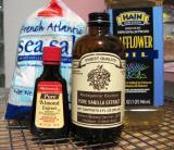 Sea salt, almond extract, vanilla & oil