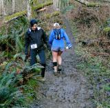 Jen & Olga negotiate the mud