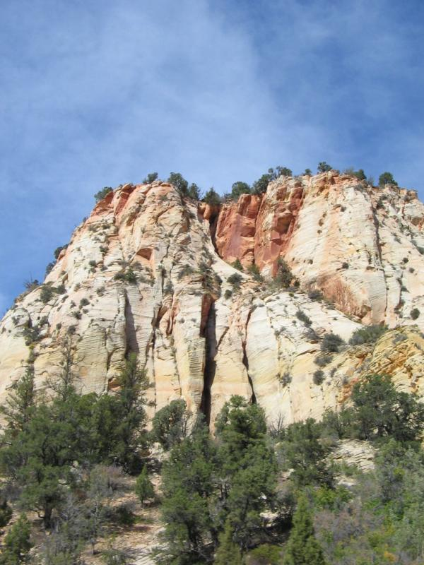 Interesting rock formations outside of Zion
