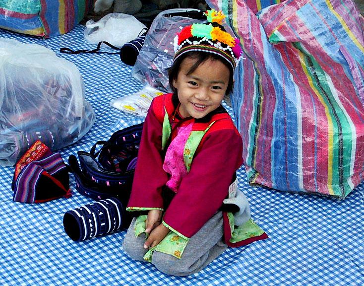 Little girl by Jong Kham Lake