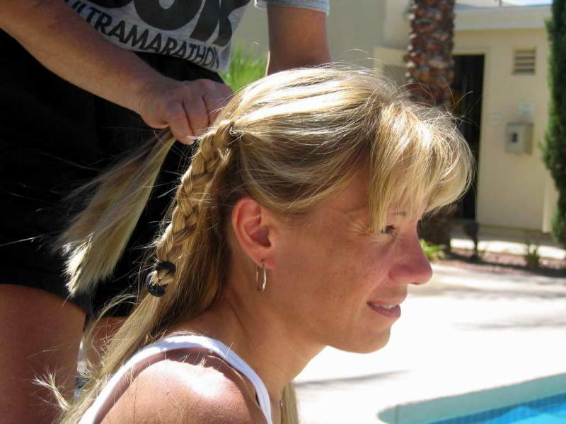 Practicing the braid