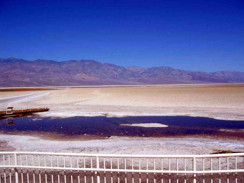 Badwater basin 282 feet below sea level
