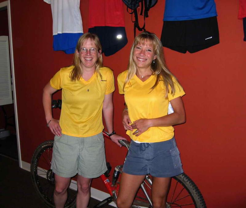 My twin Mary Gorski - WS Training Runs.  Thanks, Mary for the yellow Get Lucky Beads that took me to the top of Whitney!