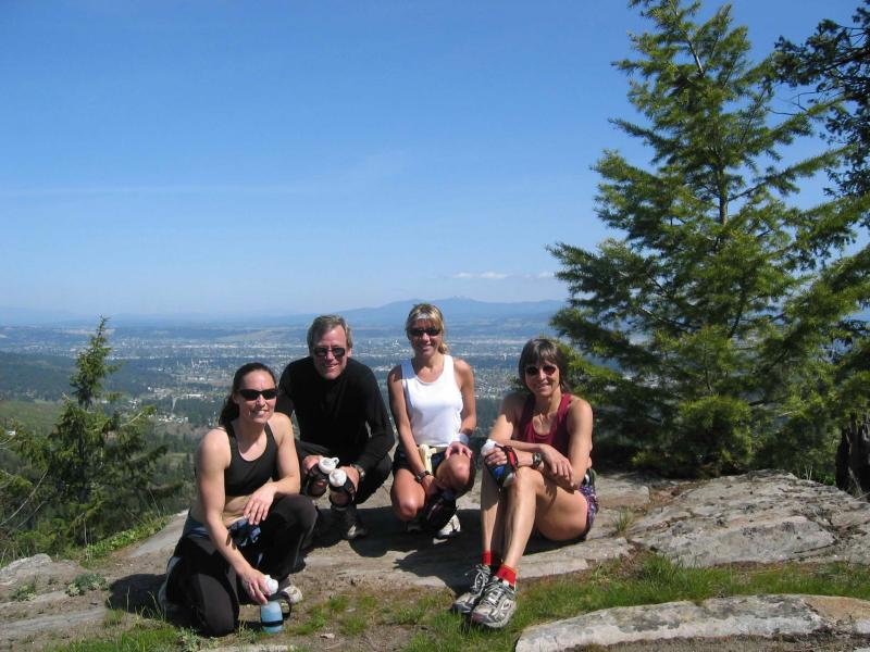 Wendy ONeill, Kevin Carroll, and Gunhild Swanson -- A few of our Spokanite friends with whom we run on Tower Mountain.