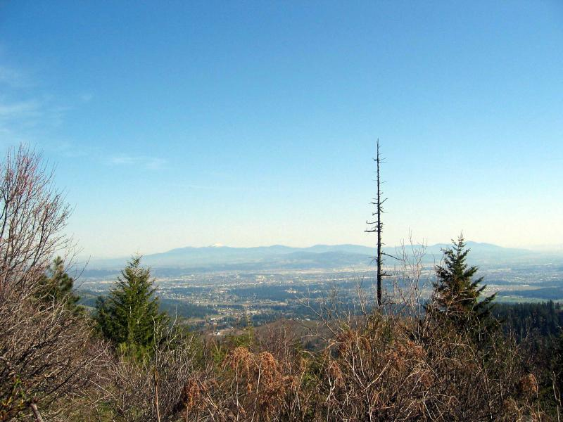 Nice view of the valley with snow-capped Mt. Spokane in the distance