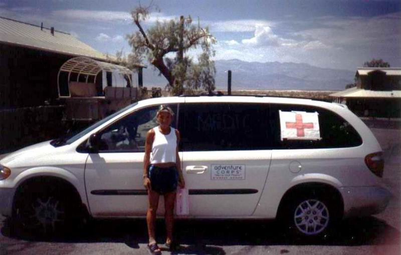 2003 was Badwaters first organized medical team.  Heres me the 2nd morning trying to leave Stove Pipe Wells to get some sleep