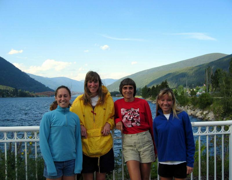 Then, Wendy, Cheryl, Gunhild & I (the Quad Squad) ran a 220-mile Ameri-cana Relay from Nelson BC to Sandpoint, ID