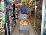 Larry with his own cart