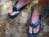 Art's badly blistered feet (Marshall said Art did not complain even once on the trail!)