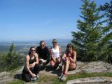 Wendy O'Neill, Kevin Carroll, and Gunhild Swanson -- A few of our Spokanite friends with whom we run on Tower Mountain.