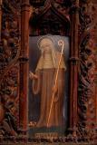 Kenton's All Saints - Painted saint on the pulpit