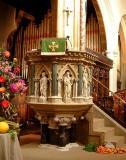Victorian pulpit, St. Mary, Taunton